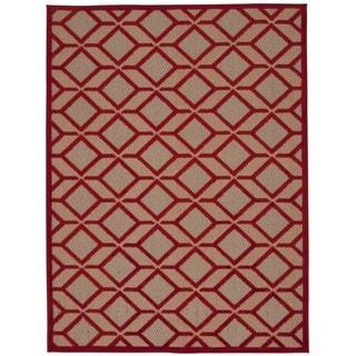Rug Squared Kona Red Rug (9'6 x 13')