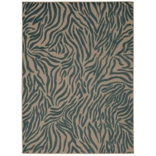 Rug Squared Kona Indoor/Outdoor Blue Rug (5'3 x 7'5)