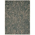 Rug Squared Kona Indoor/Outdoor Blue Rug (7'10 x 10'6)