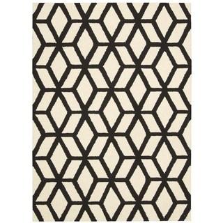 Rug Squared Laredo Ivory/ Black Rug (7'6 x 9'6)