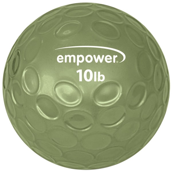 Empower Fitness 10-pound Comfort Grip Medicine Ball with DVD