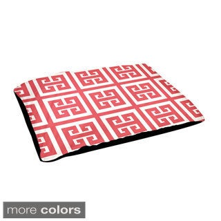 18x28-inch Outdoor Geometric Square Pattern Dog Bed