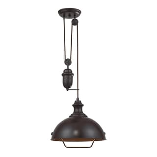 Elk Lighting Farmhouse Single-light Oiled Bronze Pendant