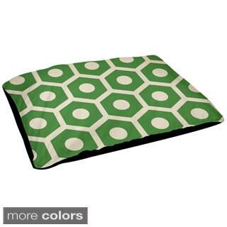 30x40-inch Outdoor Hexagon Geometric Dog Bed