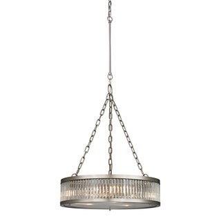 Elk Lighting Linden 3-light Brushed Nickel/ Crystal Pendant