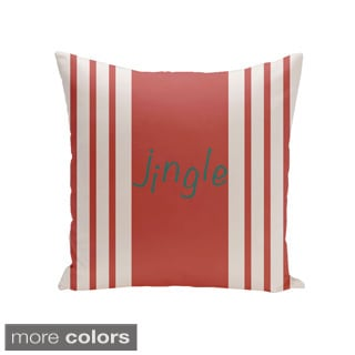 26x26-inch Holiday Brights Collection Jingle Pillow