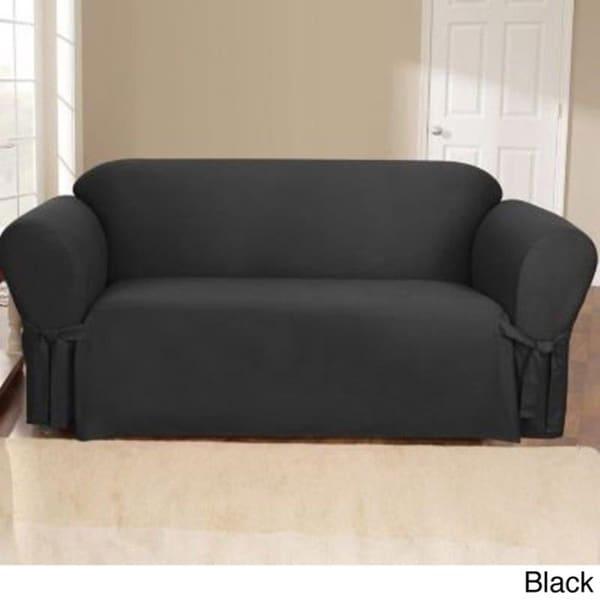 Sure Fit Canvas Sofa Slipcover 16753818