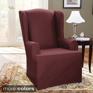 Sure Fit Canvas Wing Chair Slipcover