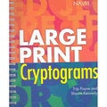 Large Print Cryptograms (Spiral bound)