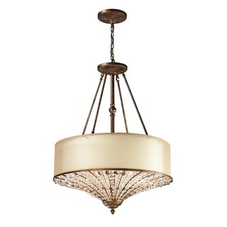Elk Lighting Crystal Spring Spanish Bronze and Crystal 4-Light Pendant