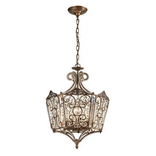 Elk Lighting Villegosa Spanish Bronze and Crystal 8-Light Pendant