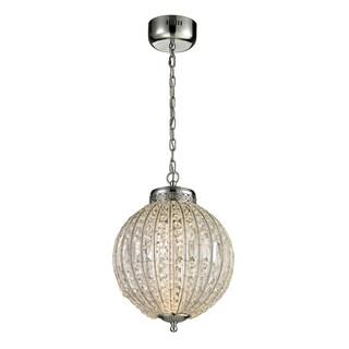 Elk Lighting Crystal Spheres and Polished Chrome LED Pendant