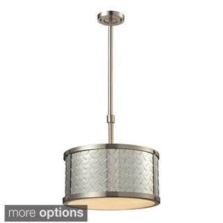 Elk Lighting 3-Light Diamond Plate Brushed Nickel Pendant