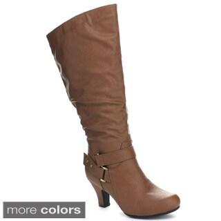 Blossom Women's 'Brand-38W' Wide Kitten Heel Boots
