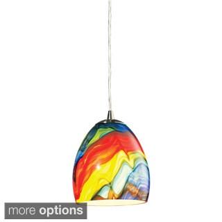 Elk Lighting 'Colorwave' 1-Light Satin Nickel Pendant