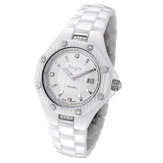 Rougois Women's White Ceramic Diamond Watch