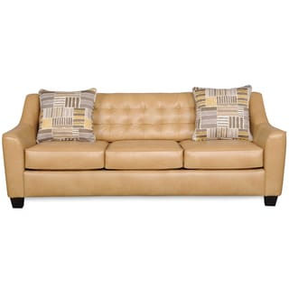 Celeste Camel Brown Bonded Leather Sofa