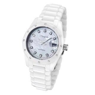 Rougois Women's R6900-W-WD White Ceramic Diamond Watch