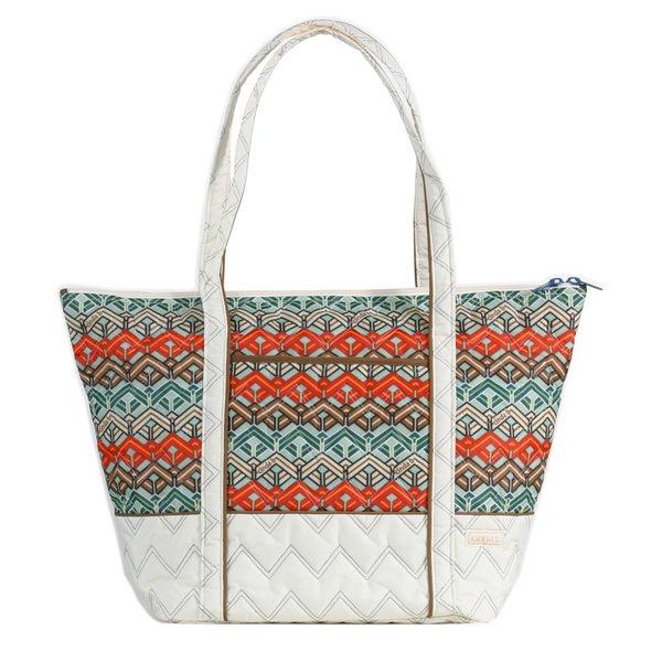 Cinda B 'Super Tote II' Ravinia Ivory Bag