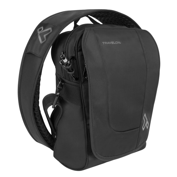 Anti-theft Black Urban Tour Sling Messenger Bag