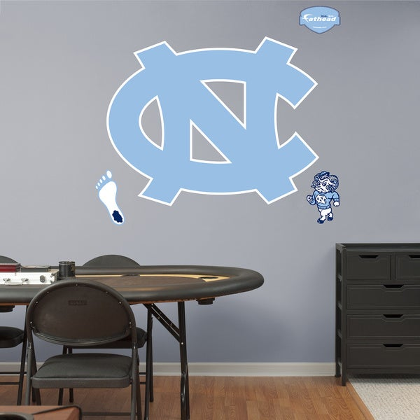 Fathead North Carolina Tar Heels Logo Wall Decals 14240674