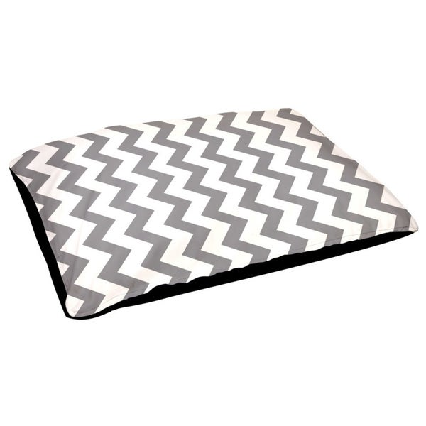 18 x 28-inch Outdoor Geometric Dog Bed