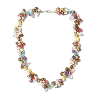 20-inch Muti-colored Pearl and Gemstone Necklace