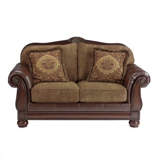 Signature Designs by Ashley 'Beamerton Heights' Chestnut Brown Loveseat