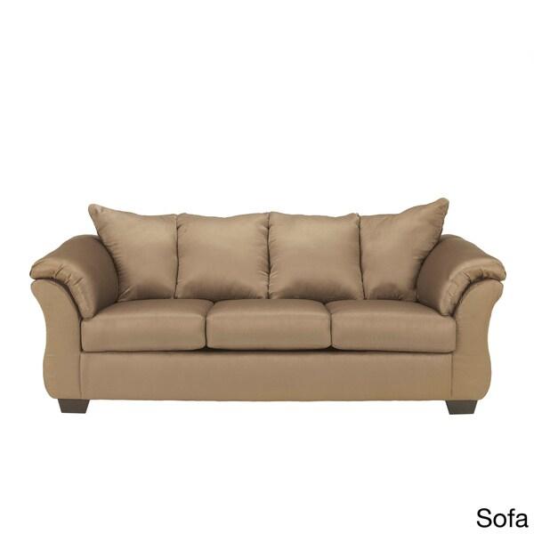 Signature designs by ashley 'darcy' mocha brown sofa   16758032 ...