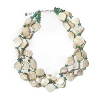 18-inch Mother of Pearl and Turquioise Necklace