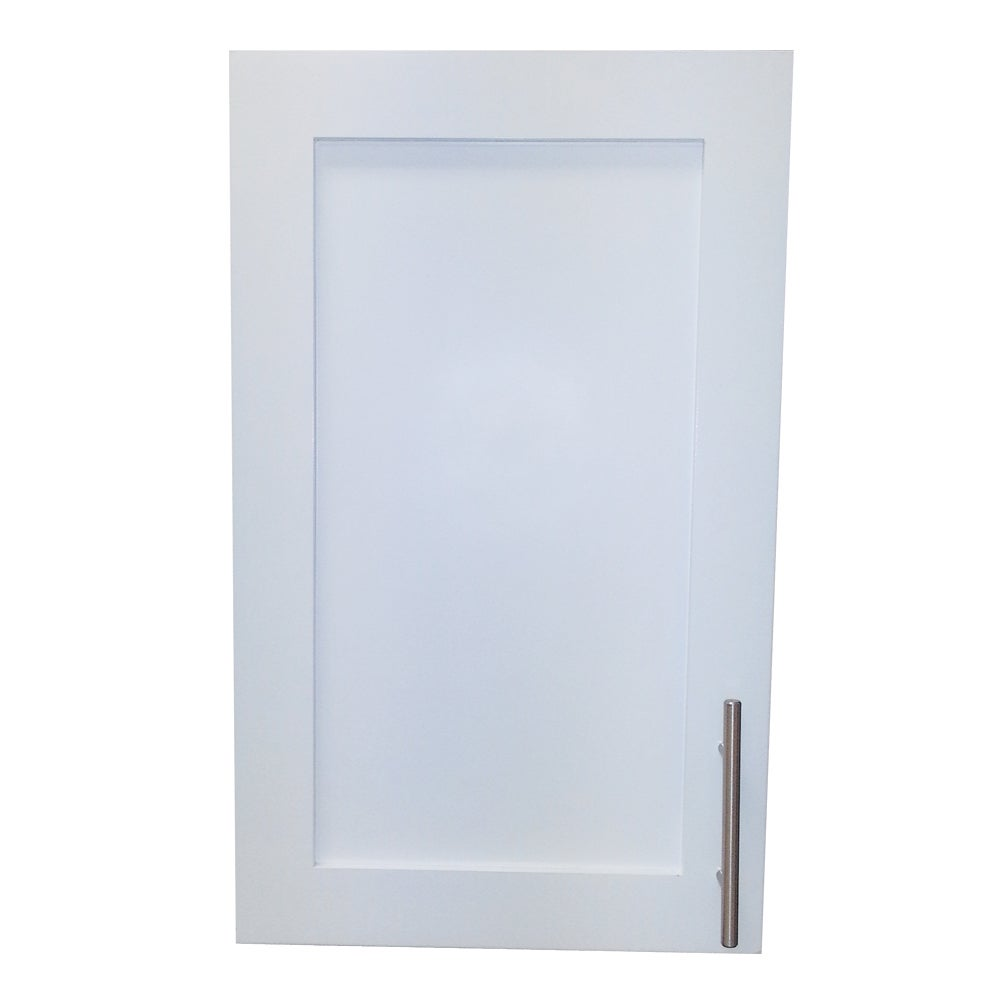 Overstock.com 22-inch Recessed Shallow Depth Classic Frameless Cabinet - 2.5 inches Deep - White Enamel