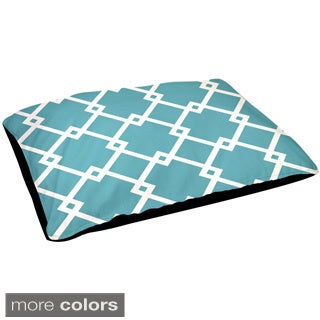 30x40-inch Outdoor Contemporary Geometric Diamond Pattern Dog Bed