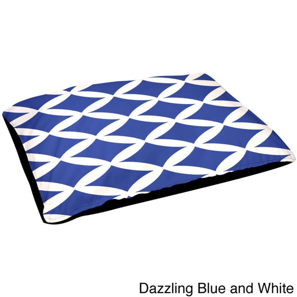 30x40-inch Contemporary Outdoor Geometric Dog Bed