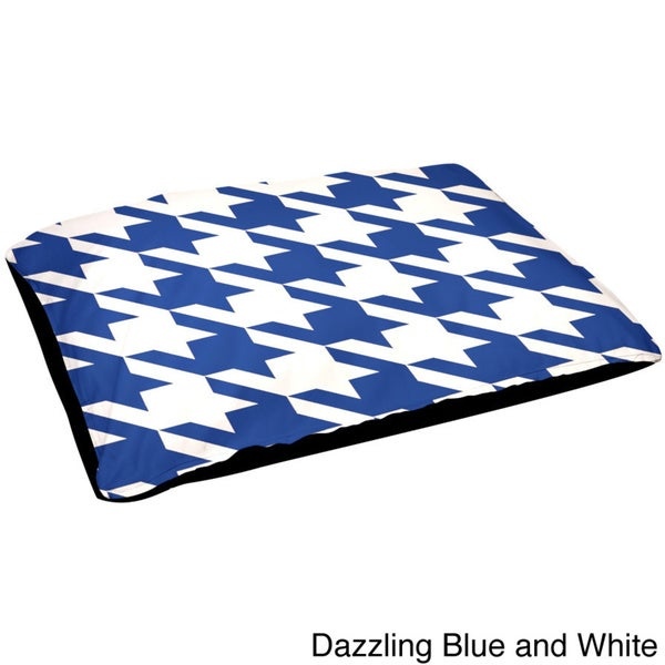 30x40-inch Outdoor Geometric Houndstooth Dog Bed