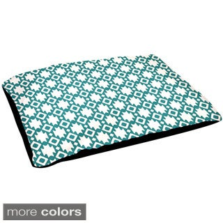 30x40-inch Outdoor Geometric Dog Bed
