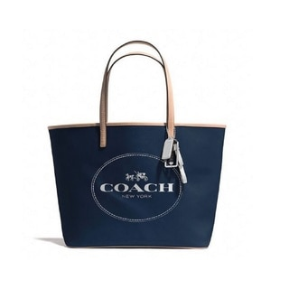 Coach Metro Hourse Navy Leather Carriage Tote