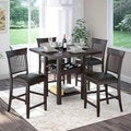 CorLiving 5-piece Bistro Tall Dark Cocoa Dining Set with Wine Rack