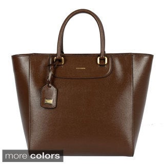 Dolce & Gabbana Ladie's Lucia Ocean Print Calfskin Shopping Bag