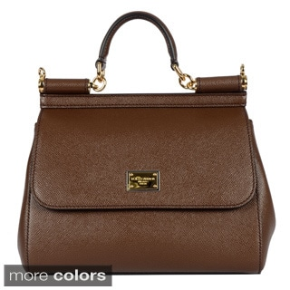 Dolce & Gabbana Ladies Medium Dauphine Calfskin Sicily Bag