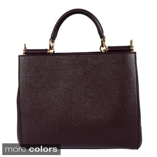 Dolce & Gabbana Ladies Medium Dauphine Calfskin Sicily Shopping Bag