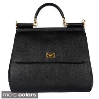 Dolce & Gabbana Ladies Large Dauphine Calfskin Sicily Bag