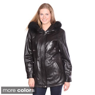 Women's 'Mandy' Leather Anorak