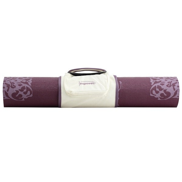 Empower Fitness 5mm Cranberry Print Yoga Mat with Clutch