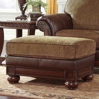 Signature Designs by Ashley 'Beamerton Heights' Traditional Chestnut Ottoman