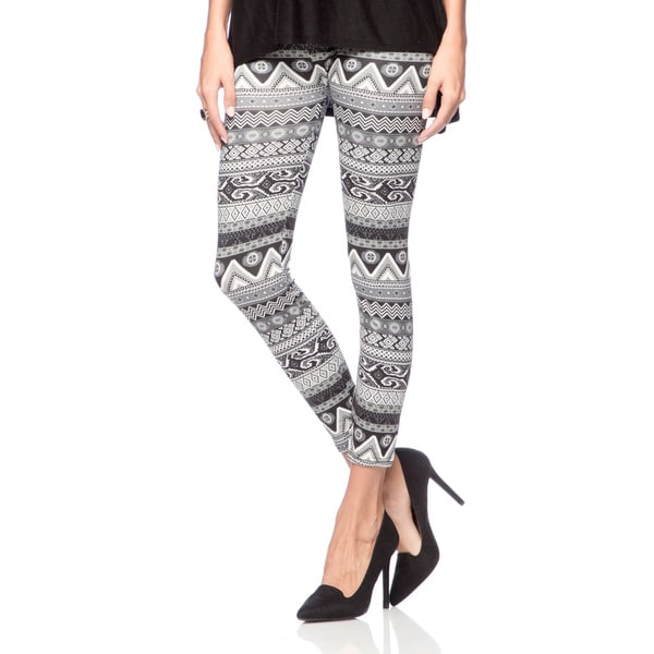 Ladies Full-length Seamless Stretch Printed Leggings