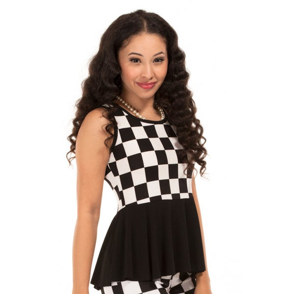Checkmate Peplum Top