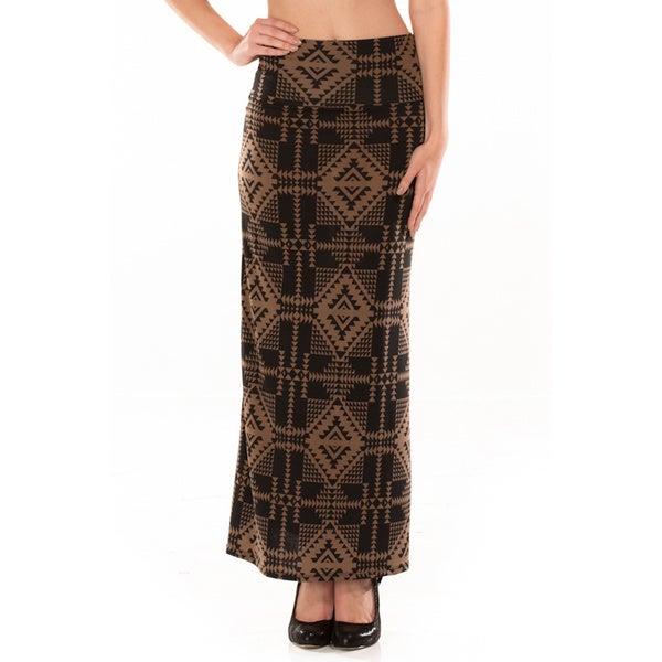 Modern Ikat Maxi Skirt