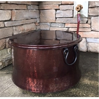 Deeco Copper-plated Hose Holder/ Storage Pot with Lid