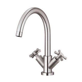 Danze 2-handle Centerset Parma Cross Handle Touch Down Drain Brushed Nickel Faucet