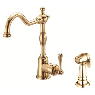 Danze Single-handle Kit Opulence Lever Handle with Spray Polished Brass Faucet